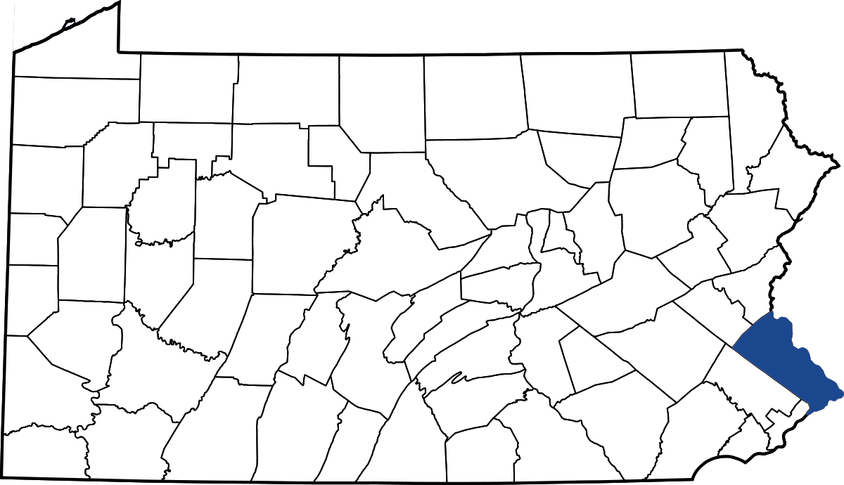 bucks county location map